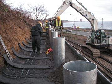 6. 支柱基部鋼管設置