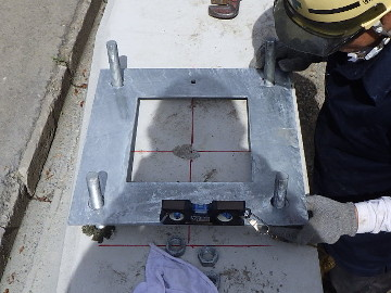2. 支柱基部アンカー設置