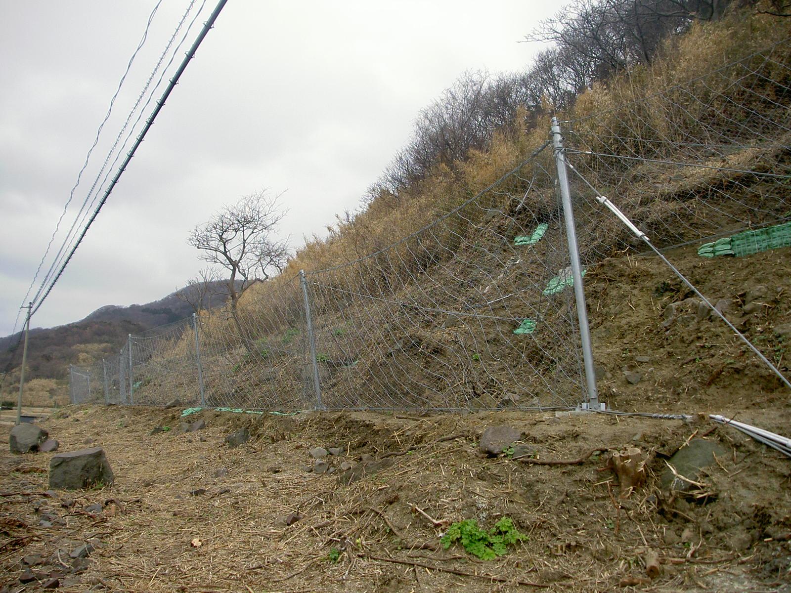 一般国道249号道路災害防除工事(落石防護柵工)
