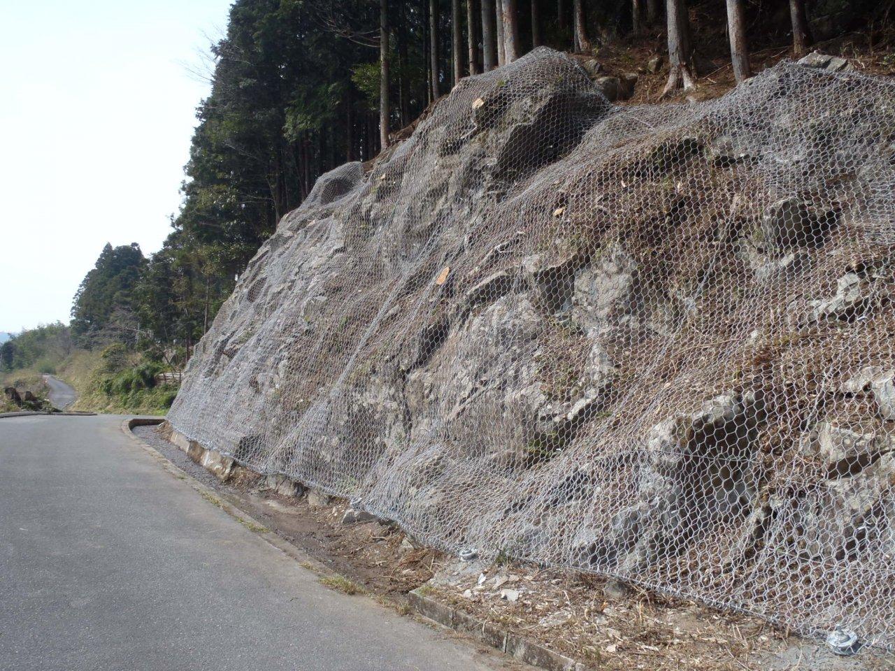 町道谷垣内重行線落石防止工設置工事