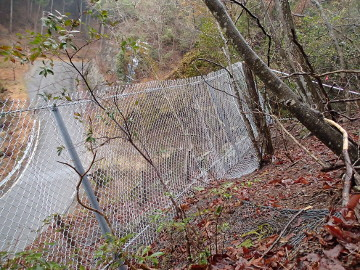 建設第28-351号市道小那比下川線落石防護工事