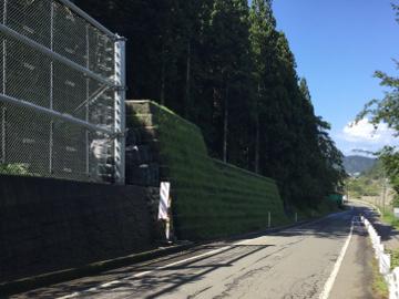 一般県道下出越線県単道路防災対策(補正)落石防護補強土擁壁設置工事