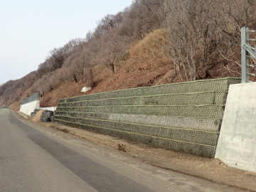 一般国道231号石狩市安瀬落石防護柵設置外一連工事